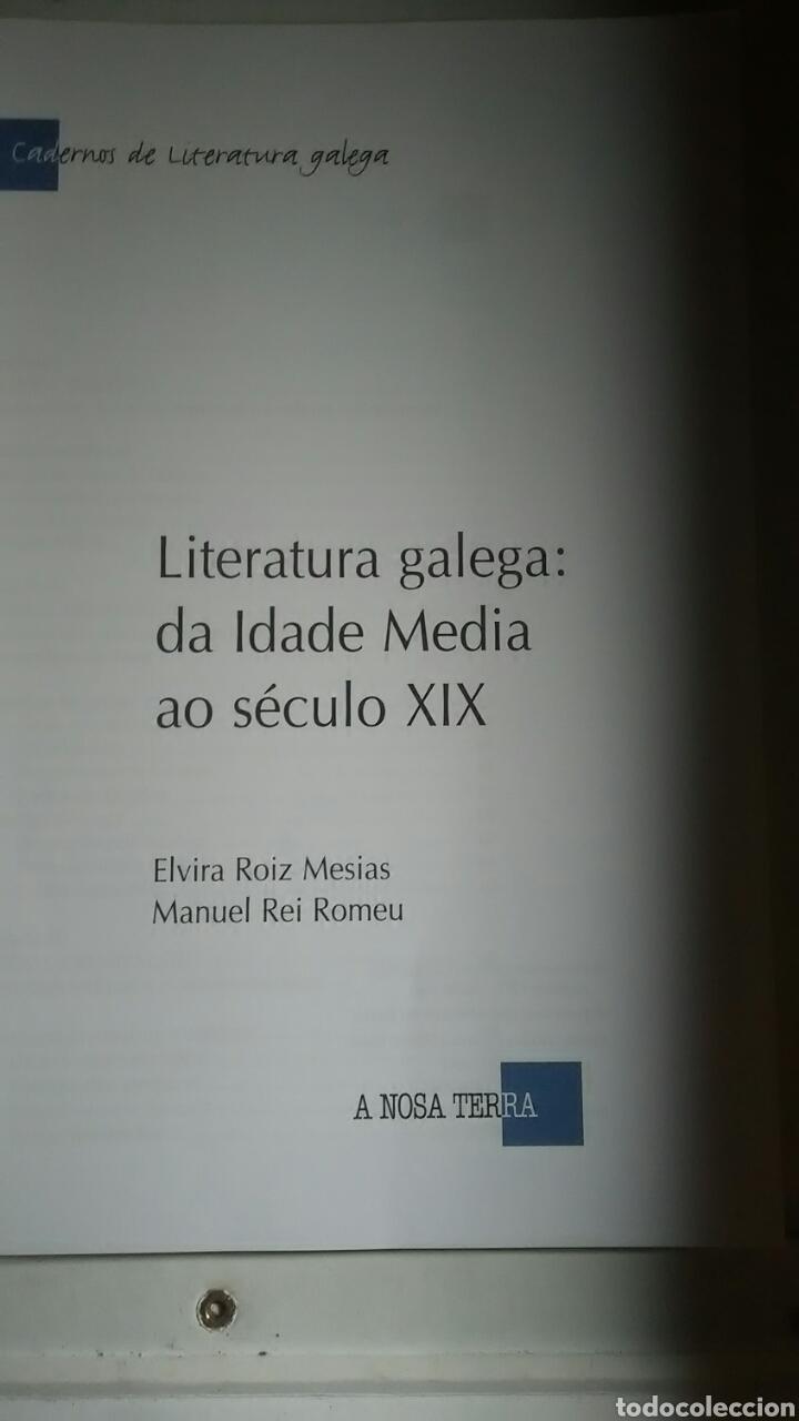 Libros: Literatura Galega da idade media a o seculo XIX. A Nosa Terra. 2002 - Foto 2 - 225072305