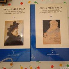 Libros: MIGUEL PARDO BAZÁN OBRAS PERIODISTICAS COMPLETAS EN 1879-1921. Lote 225651146