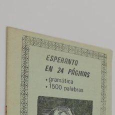 Libros: ESPERANTO EN 24 PAGINAS. Lote 226756055