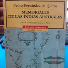 Libri di seconda mano: MEMORIALES DE LAS INDIAS AUSTRALES : - FERNANDEZ DE QUIROS, PEDRO.. Lote 220168086