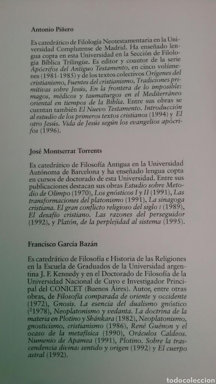 Libros: Textos Gnósticos. Biblioteca de Nag Hammadi. Tomo II - Foto 7 - 227009315