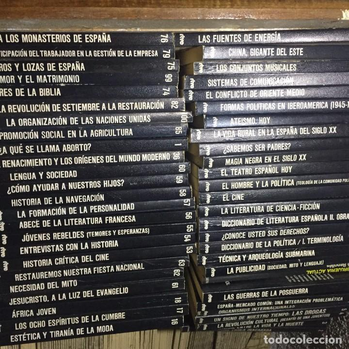 50 TOMOS COLECCIÓN BIBLIOTECA CULTURAL RTVE - ESPAÑA, DECADA 1970 (Libros sin clasificar)