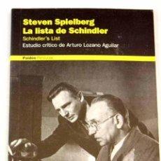 Libros: LA LISTA DE SCHINDLER: SCHINDLER S LIST : STEVEN SPIELBERG. Lote 227652410