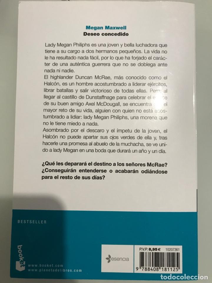 Libros: Deseo concedido. Megan Maxwell-Las guerreras de maxwell, 1 (tapa blanda) Nuevo - Foto 4 - 252144910