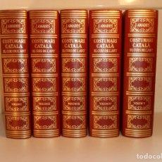 Libros: COSTUMARI CATALÀ DE JOAN AMADES COLECCIÓN COMPLETA 5 VOLÚMENES. SALVAT EDITORES. Lote 227833290