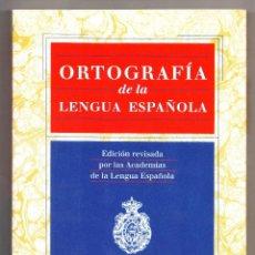 Libros: ORTOGRAFÍA DE LA LENGUA ESPAÑOLA ESPASA 1999. Lote 228115355