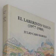 Livros em segunda mão: EL LABERINTO VASCO (1977-1988) JULIO CARO BAROJA. Lote 228121390