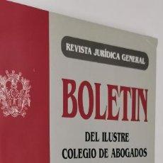 Libros: BOLETIN DEL ILUSTRE COLEGIO DE ABOGADOS DE MADRID. DERECHO DE FAMILIA. Nº 8.. Lote 230310020