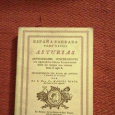 Libros: ESPAÑA SAGRADA. MANUEL RISCO. EDICION FACSIMIL. ASTURIAS. Lote 245999665