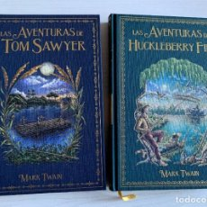 Libri: LAS AVENTURAS DE TOM SAWYER / LAS AVENTURAS DE HUCKLEBERRY FINN - MARK TWAIN - SALVAT - NOVELAS. Lote 231798845