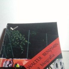 Libros: WALTER BENJAMÍN. UNA BIOGRAFÍA. BERND WITTE. GEDISA EDITORIAL. 2002. Lote 232378085