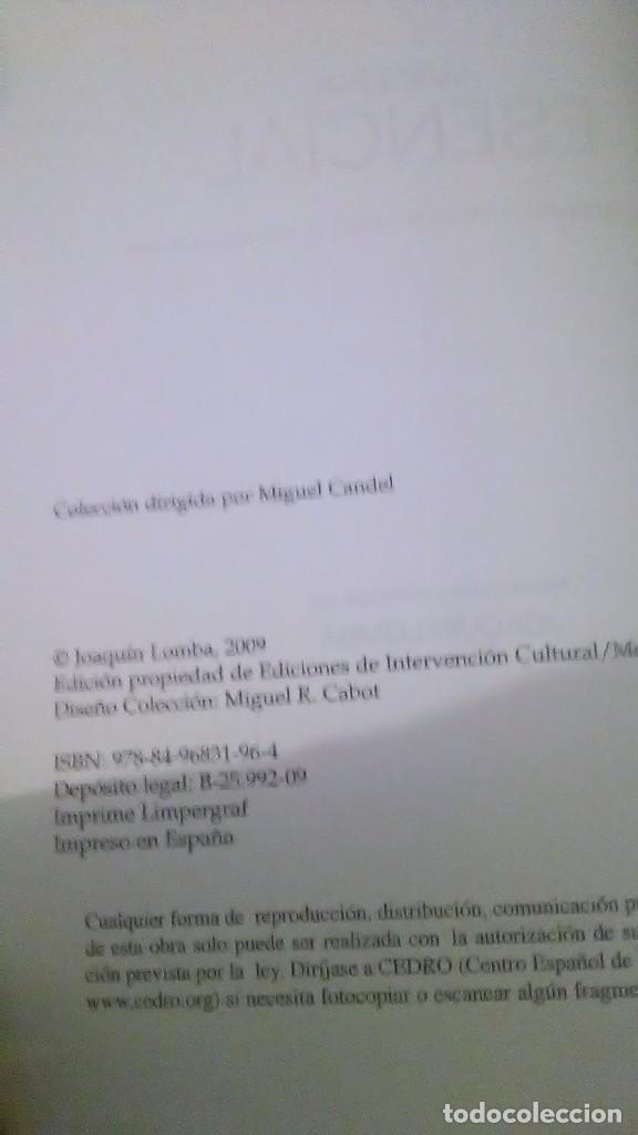 Libros: Avicena. Esencial. Joaquín Lomba edición. Montesinos Esencial. 2009 - Foto 6 - 233455980