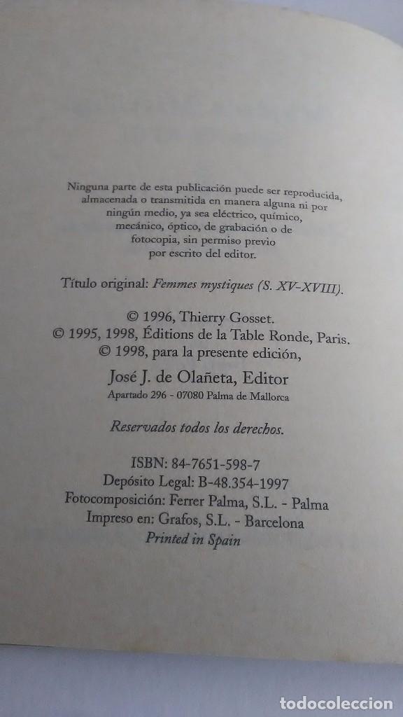 Libros: Mujeres místicas. Siglos XV-XVIII. José J Olañeta Editor. 1998 - Foto 3 - 234498670