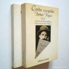 Libros: CARTAS ESCOGIDAS. VOL. I Y II - JAMES JOYCE (SELECCIÓN, EDICIÓN Y PRÓLOGO DE RICHARD ELLMANN. TRADUC. Lote 234712085