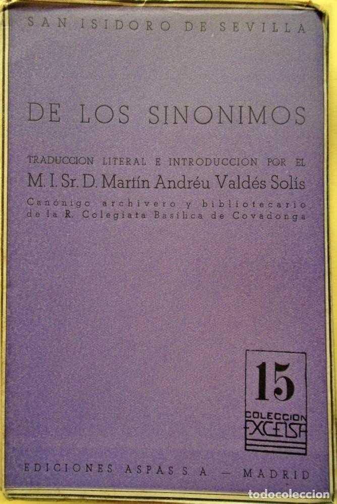 DE LOS SINÓNIMOS EN LA LAMENTACIÓN DEL ALMA PECADORA. TRAD. LITERAL E INTRODUCCIÓN POR MARTÍN ANDRÉU (Libros sin clasificar)