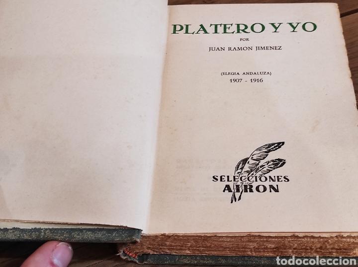 Libros: JUAN RAMON JIMENEZ.PLATERO Y YO.ELEGIA ANDALUZA( 1907-1916). SELECCIONES AIRON. - Foto 2 - 235121065
