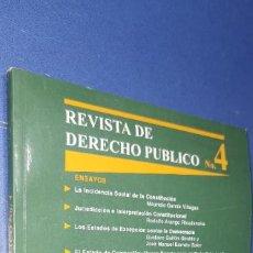 Libros: REVISTA DE DERECHO PUBLICO 4 UNIVERSIDAD DE LOS ANDES FACULTAD DE DERECHO. Lote 235168750