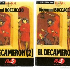 Libros: BIBLIOTECA DE EL SOL. NºS. 11 Y 12. EL DECAMERON (1 Y 2). GIOVANNI BOCCACCIO. (C/A8). Lote 235299280
