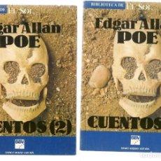 Libros: BIBLIOTECA DE EL SOL. Nº 23 Y 24. EDGAR ALLAN POE. CUENTOS (1 Y 2). (C/A8). Lote 235301520