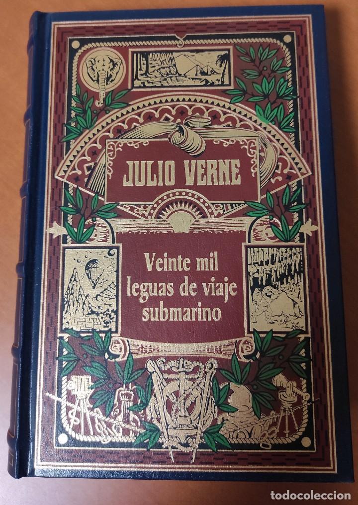 8 NOVELAS DE JULIO VERNE (TAPA DURA SIMIL PIEL) (COMO NUEVAS) (Libros Nuevos - Literatura - Narrativa - Aventuras)