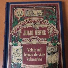 Libros: 8 NOVELAS DE JULIO VERNE (TAPA DURA SIMIL PIEL) (COMO NUEVAS). Lote 235336350