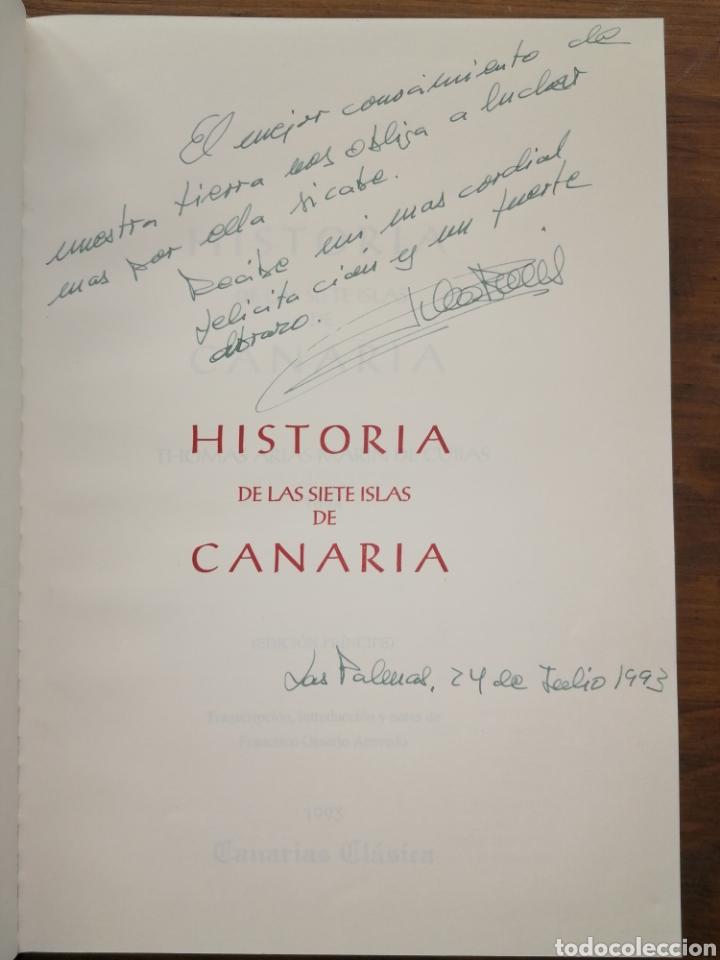 Libros: HISTORIA DE LAS SIETE ISLAS DE CANARIA 1694 - Tomás Marín de Cubas - Dedicatoria - Foto 3 - 235686135