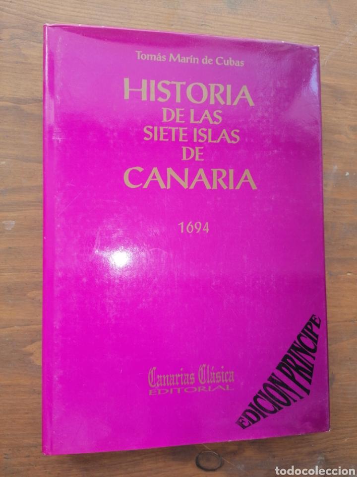 HISTORIA DE LAS SIETE ISLAS DE CANARIA 1694 - TOMÁS MARÍN DE CUBAS - DEDICATORIA (Libros sin clasificar)