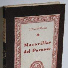 Libros: MARAVILLAS DEL PARNASO - PINTO DE MORALES, J.. Lote 236226105