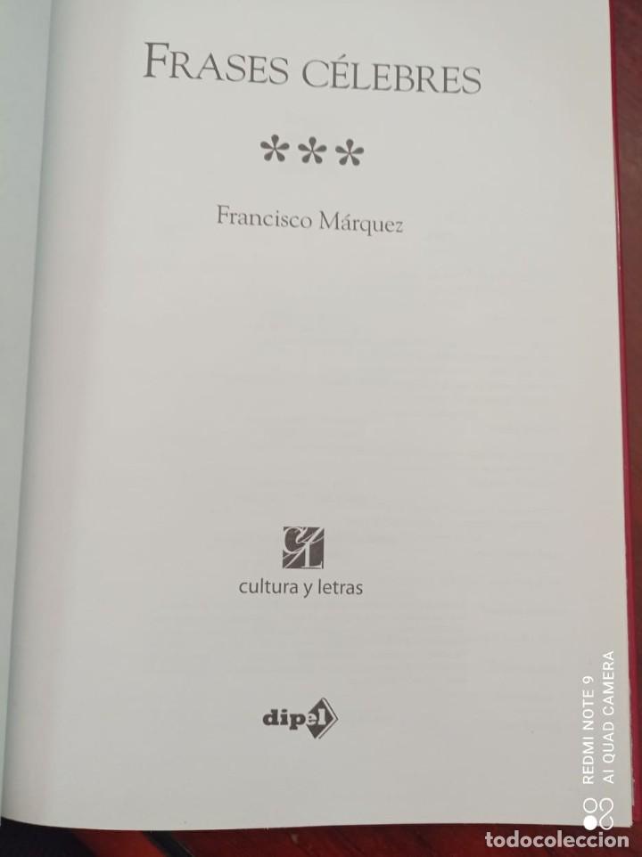 Libros: FRASES CELEBRES - FRANCISCO MARQUEZ - Foto 2 - 236364400