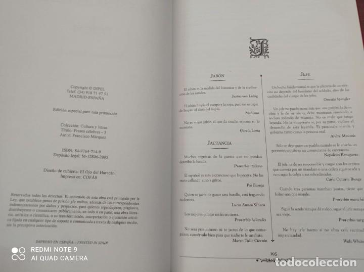 Libros: FRASES CELEBRES - FRANCISCO MARQUEZ - Foto 3 - 236364400
