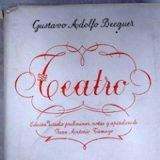 Libri di seconda mano: TEATRO DE GUSTAVO ADOLFO BÉCQUER. Lote 236673740