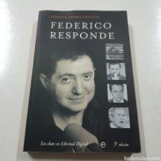 Libros: FEDERICO RESPONDE - FEDERICO JIMENEZ LOSANTOS. Lote 236724880
