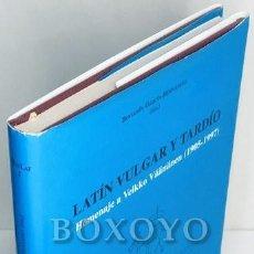 Libros: GARCÍA HERNÁNDEZ, BENJAMÍN. LATÍN VULGAR Y TARDÍO. HOMENAJE A VEIKKO VÄÁNÄNEN (1905-1997). Lote 236732940