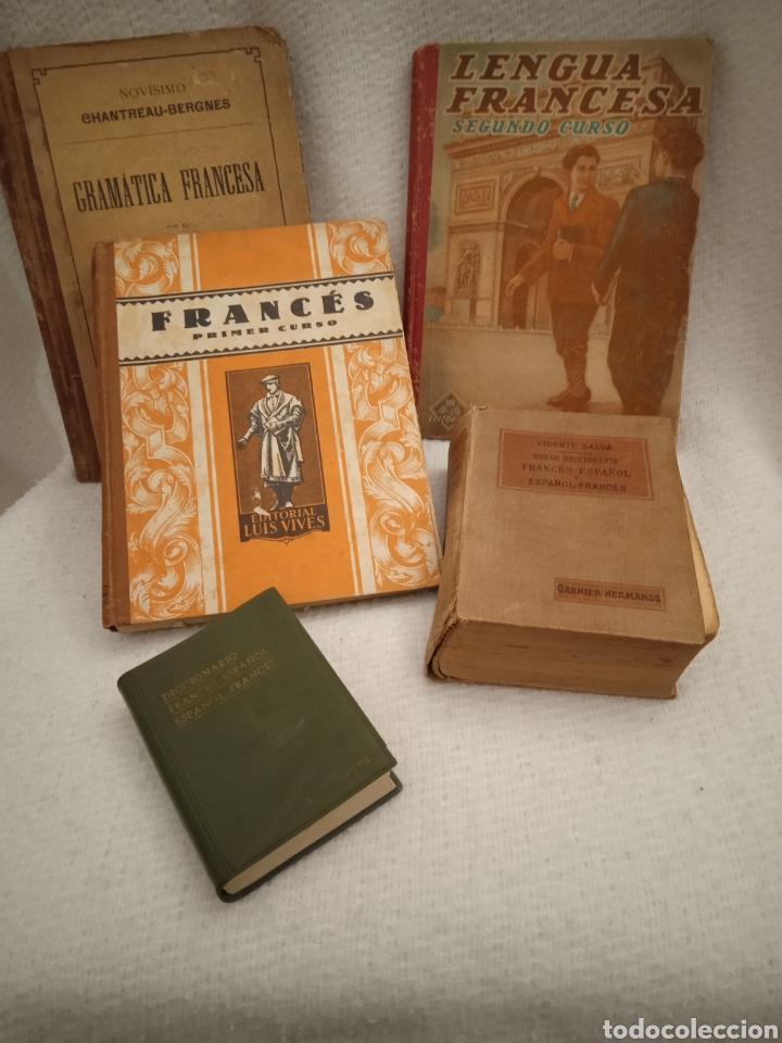 5 LIBROS ESTUDIAR FRANCÉS ANTIGUOS (Libros sin clasificar)