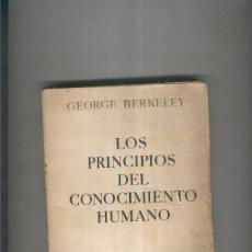 Libros: LOS PRINCIPIOS DEL CONOCIMIENTO HUMANO. Lote 237417860
