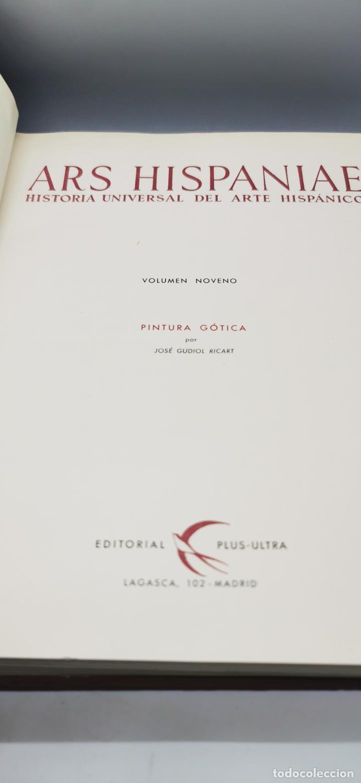 Libros: ARS HISPANIAE. HISTORIA UNIVERSAL DEL ARTE HISPANICO. TOMO IX: PINTURA GOTICA - Foto 4 - 238135650