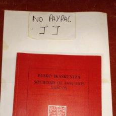 Libros: ASMOZ TA JAKINEZ EUSKO IKASKUNTZA ANTROPOLOGÍA ETNOGRAFIA SOCIEDAD ESTUDIOS VASCOS CUADERNOS SECCION. Lote 238736655