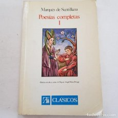 Livres: POESIAS COMPLETAS I - MARQUES DE SANTILLANA - TDK65 -. Lote 213582798