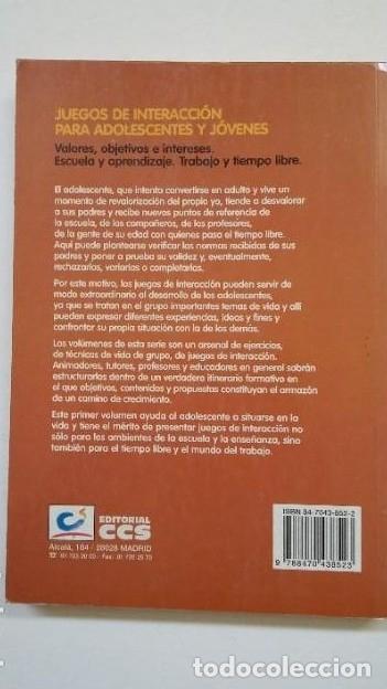 Libros: Juegos de interacción para adolescentes y jóvenes 1. Vopel, Klaus W. Ed. CCS. TDK200 - - Foto 2 - 206958678