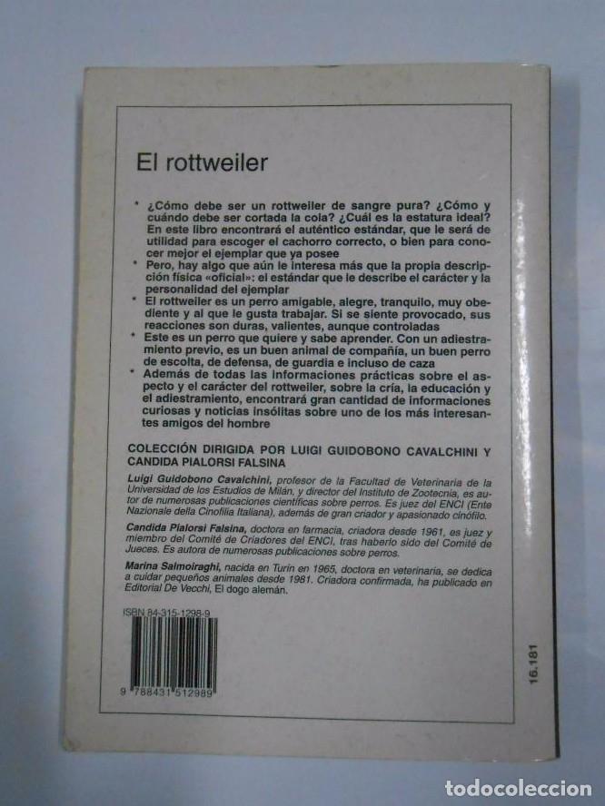 Libros: PERROS DE RAZA. EL ROTTWEILER. MARINA SALMOIRAGHI. ED VECCHI. TDK274 - - Foto 2 - 80848530