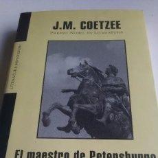 Libros: COETZEE. J.M. COETZEE.EL MAESTRO DE PETERSBURGO. MONDADORI. 2004. Lote 262511050