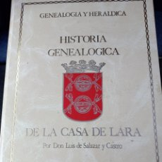 Libros: HISTORIA GENEALÓGICA DE LA CASA DE LARA SEIS VOLÚMENES FACSÍMIL1988.---ED. WILSEN--6 VOL.--CARTONÉ-F. Lote 240023780