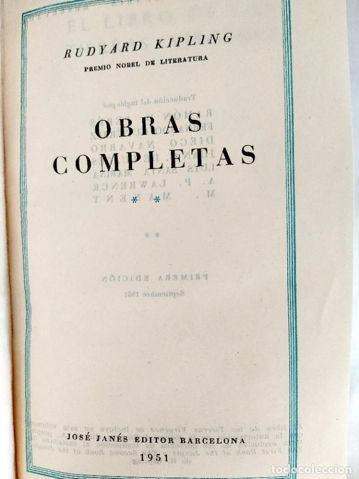 Libros: KIPLING: OBRAS COMPLETAS - TOMOS I Y II - NUEVOS - Foto 6 - 240491765