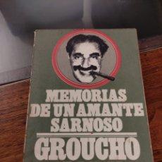 Libros: MEMORIAS DE UN AMANTE SARNOSO, GROUCHO MARX. Lote 242172160