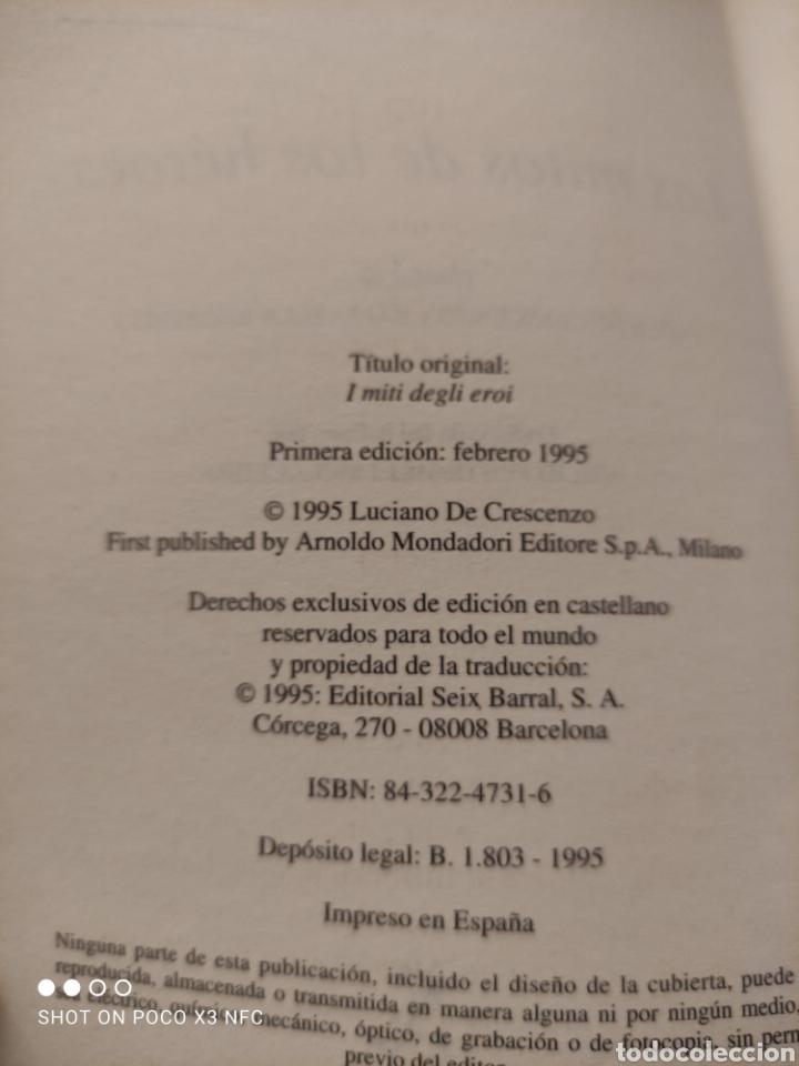 Libros: Los mitos de los héroes. Cuenta la gran saga de los héroes de la mitología griega. Luciano de Cescen - Foto 2 - 242178850