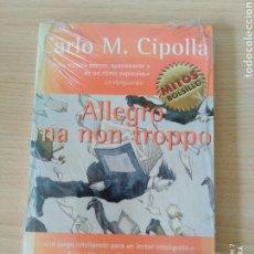 Libros: ALLEGRO MA NON TROPPO. CARLO M. CIPOLLA. NUEVO. Lote 243357330