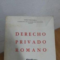 Libros: DERECHO PRIVADO ROMANO - FUENTESECA, PABLO. Lote 133709759
