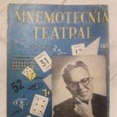 Libros: MNEMOTECNIA TEATRAL / LIBRO DE MAGIA / WENCESLAO CIURÓ / 1ª EDICIÓN 1959. Lote 243779555