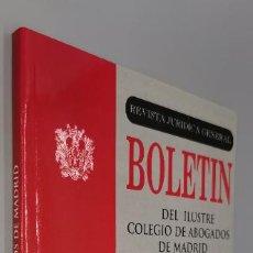 Libros: BOLETIN ILUSTRE COLEGIO ABOGADOS DE MADRID TEMAS LABORALES Nº 4 MARZO 97. Lote 243967060