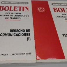 Libros: BOLETIN ILUSTRE COLEGIO ABOGADOS DE MADRID DERECHO TELECOMUNICACIONES SEPTIEMBRE 1997. Lote 243967540